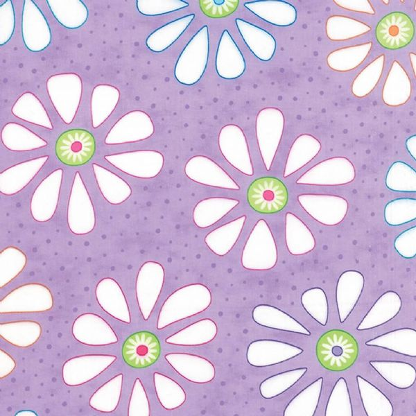 Moda - Bandana, Daisy - Purple Cotton Quilting Fabric